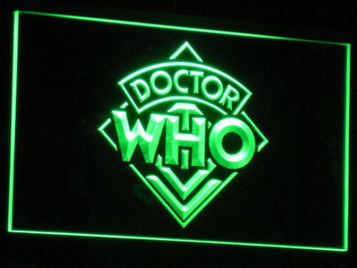 Doctor Who LED Neon Sign - Green - SafeSpecial