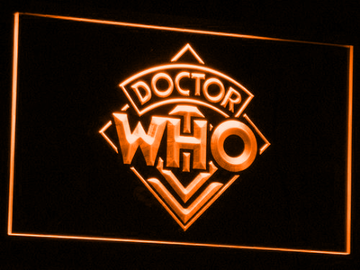 Doctor Who LED Neon Sign - Orange - SafeSpecial