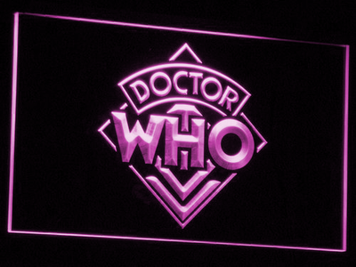 Doctor Who LED Neon Sign - Purple - SafeSpecial