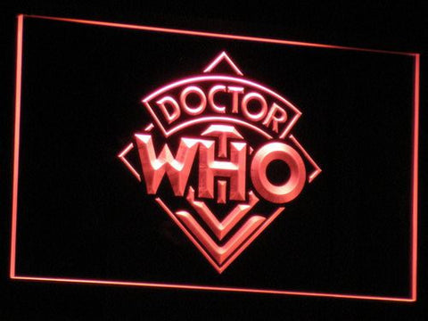 Image of Doctor Who LED Neon Sign - Red - SafeSpecial