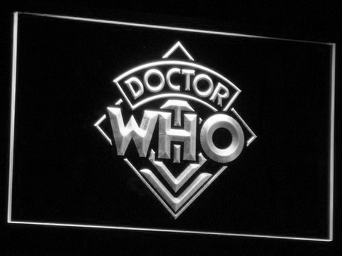 Image of Doctor Who LED Neon Sign - White - SafeSpecial