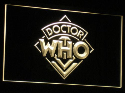 Doctor Who LED Neon Sign - Yellow - SafeSpecial