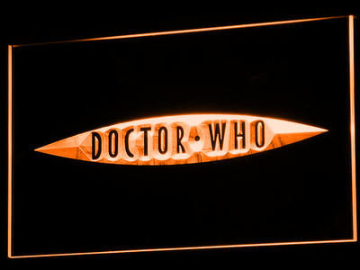 Doctor Who The End of Time LED Neon Sign - Orange - SafeSpecial