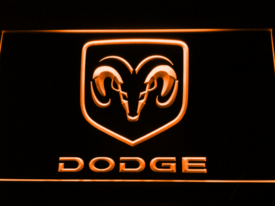 Dodge LED Neon Sign - Orange - SafeSpecial