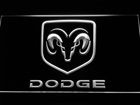 Image of Dodge LED Neon Sign - White - SafeSpecial