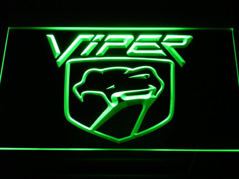 Image of Dodge Viper LED Neon Sign - Green - SafeSpecial