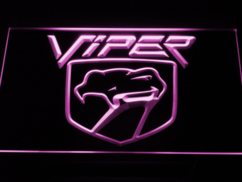 Image of Dodge Viper LED Neon Sign - Purple - SafeSpecial