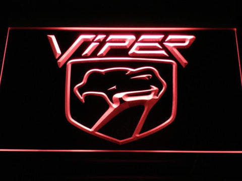 Image of Dodge Viper LED Neon Sign - Red - SafeSpecial