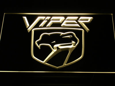 Dodge Viper LED Neon Sign - Yellow - SafeSpecial