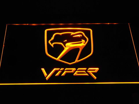 Image of Dodge Viper Old Logo LED Neon Sign - Yellow - SafeSpecial
