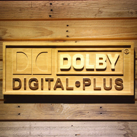Dolby Digital Plus Wooden Sign | SafeSpecial