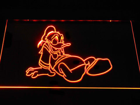 Image of Donald Duck Slump LED Neon Sign - Orange - SafeSpecial