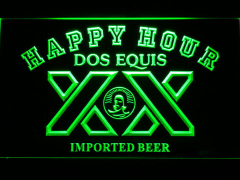 Image of Dos Equis Happy Hour LED Neon Sign - Green - SafeSpecial
