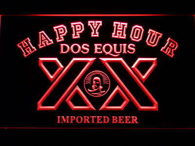 Dos Equis Happy Hour LED Neon Sign - Red - SafeSpecial