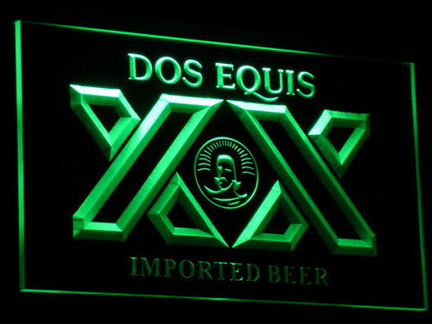 Dos Equis LED Neon Sign - Green - SafeSpecial