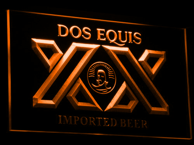 Dos Equis LED Neon Sign - Orange - SafeSpecial