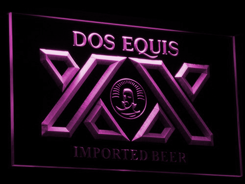 Image of Dos Equis LED Neon Sign - Purple - SafeSpecial
