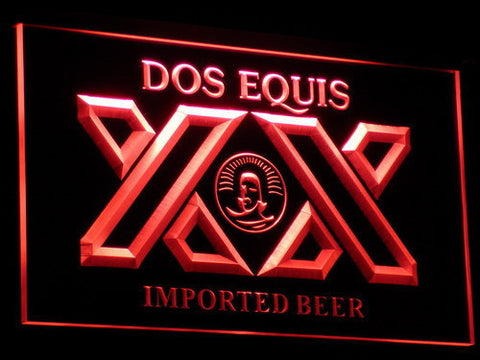 Image of Dos Equis LED Neon Sign - Red - SafeSpecial