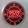 Dos Equis LED Neon Wall Clock - Red - SafeSpecial