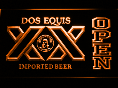Dos Equis Open LED Neon Sign - Orange - SafeSpecial