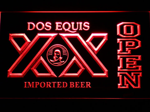 Image of Dos Equis Open LED Neon Sign - Red - SafeSpecial