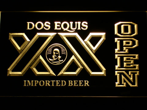 Image of Dos Equis Open LED Neon Sign - Yellow - SafeSpecial