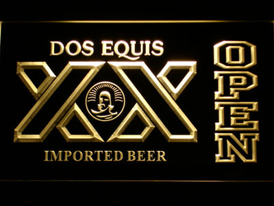 Dos Equis Open LED Neon Sign - Yellow - SafeSpecial
