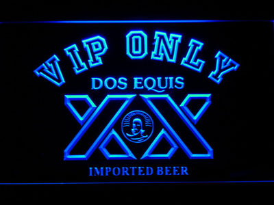 Dos Equis VIP Only LED Neon Sign - Blue - SafeSpecial