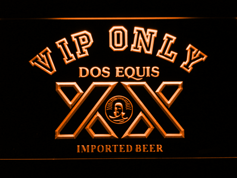 Image of Dos Equis VIP Only LED Neon Sign - Orange - SafeSpecial