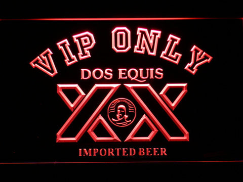 Image of Dos Equis VIP Only LED Neon Sign - Red - SafeSpecial
