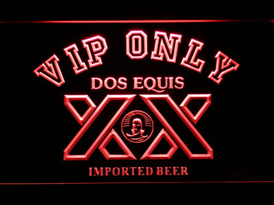 Dos Equis VIP Only LED Neon Sign - Red - SafeSpecial