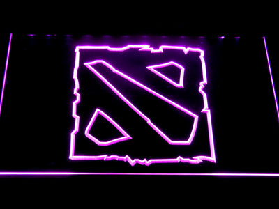 Dota 2 LED Neon Sign - Purple - SafeSpecial