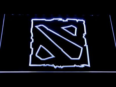 Dota 2 LED Neon Sign - White - SafeSpecial