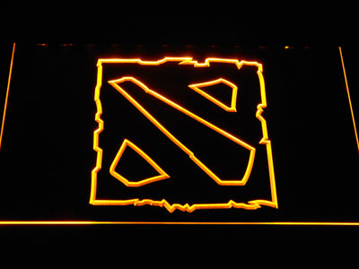 Dota 2 LED Neon Sign - Yellow - SafeSpecial