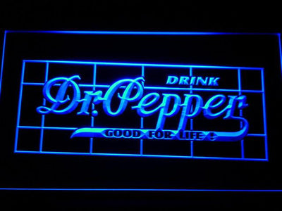 Dr Pepper Good For Life LED Neon Sign - Blue - SafeSpecial