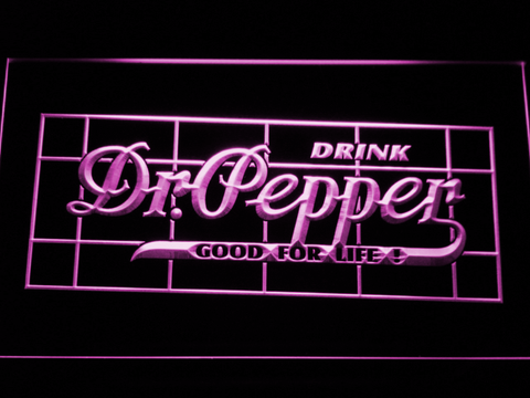 Dr Pepper Good For Life LED Neon Sign - Purple - SafeSpecial