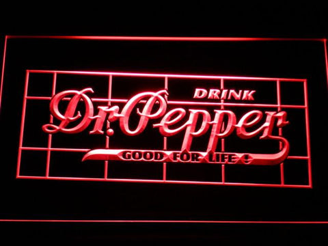 Image of Dr Pepper Good For Life LED Neon Sign - Red - SafeSpecial