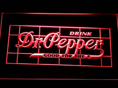 Dr Pepper Good For Life LED Neon Sign - Red - SafeSpecial