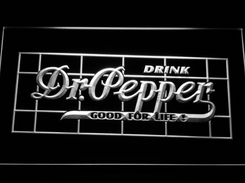 Image of Dr Pepper Good For Life LED Neon Sign - White - SafeSpecial