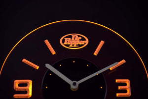 Dr Pepper Modern LED Neon Wall Clock - Yellow - SafeSpecial