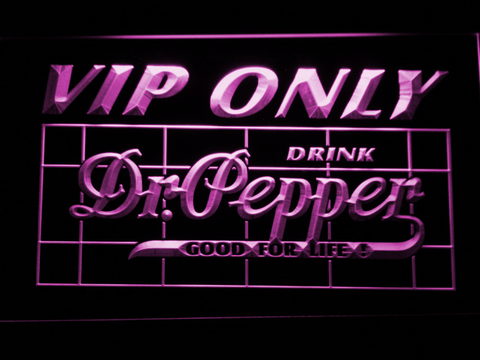 Image of Dr Pepper VIP Only LED Neon Sign - Purple - SafeSpecial