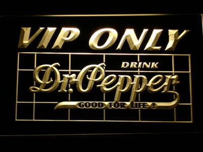 Dr Pepper VIP Only LED Neon Sign - Yellow - SafeSpecial