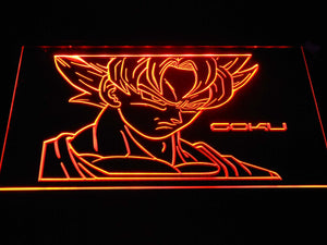 Dragon Ball Saiyan Goku LED Neon Sign - Orange - SafeSpecial