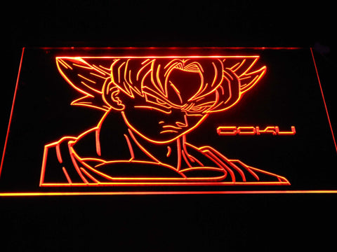 Image of Dragon Ball Saiyan Goku LED Neon Sign - Orange - SafeSpecial