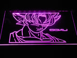 Dragon Ball Saiyan Goku LED Neon Sign - Purple - SafeSpecial