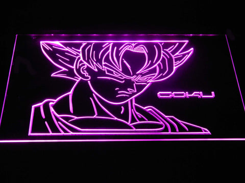 Image of Dragon Ball Saiyan Goku LED Neon Sign - Purple - SafeSpecial