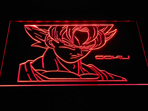 Image of Dragon Ball Saiyan Goku LED Neon Sign - Red - SafeSpecial