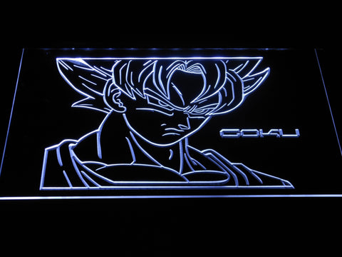 Dragon Ball Saiyan Goku LED Neon Sign - White - SafeSpecial