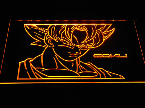 Dragon Ball Saiyan Goku LED Neon Sign - Yellow - SafeSpecial