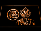 Dragon Ball Z GT Super Saiyan Son Goku LED Neon Sign - Orange - SafeSpecial
